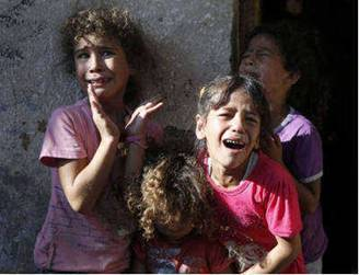 Gaza Children Crying